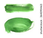 brushstroke  green watercolor | Shutterstock . vector #364090463