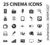 cinema icons set.  | Shutterstock .eps vector #364091327