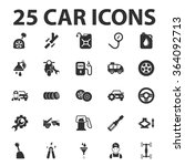 car icons set.  | Shutterstock .eps vector #364092713