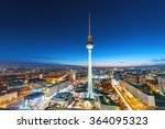 Stock photo the television tower in berlin at night 364095323