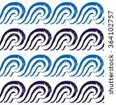 seamless ocean pattern. hand... | Shutterstock .eps vector #364102757