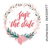 save the date. hand drawn... | Shutterstock .eps vector #364104977