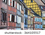 traditional french houses in... | Shutterstock . vector #364105517