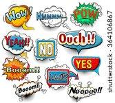 bright comic speech bubbles...   Shutterstock .eps vector #364106867