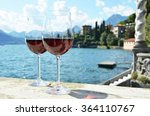 Two Wineglasses. Varenna Town...