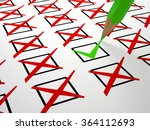 check box on white business ... | Shutterstock . vector #364112693
