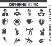 superhero  icon vector. | Shutterstock .eps vector #364119647