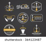 hookah labels  badges and... | Shutterstock .eps vector #364123487