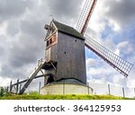a traditional windmill near the ... | Shutterstock . vector #364125953