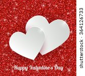 happy valentine s day greeting... | Shutterstock .eps vector #364126733
