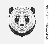 abstract panda. hand draw | Shutterstock .eps vector #364128437