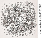 cartoon vector hand drawn... | Shutterstock .eps vector #364131083