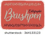 calligraphic brushpen font on... | Shutterstock .eps vector #364133123