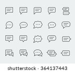 speech bubbles vector icon set... | Shutterstock .eps vector #364137443