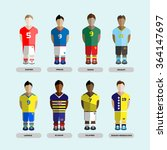 football club soccer players... | Shutterstock . vector #364147697