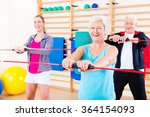 group at fitness training with
