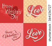 valentines day vector lettering ... | Shutterstock .eps vector #364156727