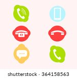set of vector telephone icons | Shutterstock .eps vector #364158563