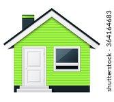 cute scandinavian cottage  ... | Shutterstock .eps vector #364164683