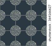 seamless floral tile background ... | Shutterstock .eps vector #364166627