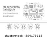 e commerce web design concept.... | Shutterstock .eps vector #364179113