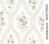 seamless floral pattern with... | Shutterstock .eps vector #364179503