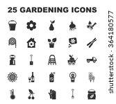 gardening icons set.  | Shutterstock .eps vector #364180577