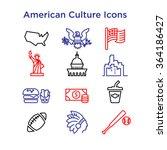 Постер, плакат: American Culture Icons Culture