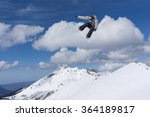 flying snowboarder on mountains.... | Shutterstock . vector #364189817