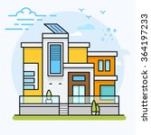 colorful modern flat... | Shutterstock .eps vector #364197233