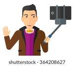 man making selfie.   Shutterstock .eps vector #364208627