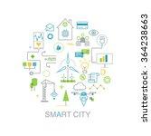 smart city vector concept. ... | Shutterstock .eps vector #364238663
