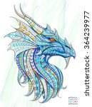 patterned head of the dragon on ... | Shutterstock .eps vector #364239977