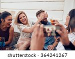 group of friends having fun at... | Shutterstock . vector #364241267