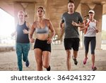 healthy young people running... | Shutterstock . vector #364241327