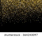 gold sparkles on white... | Shutterstock .eps vector #364243097
