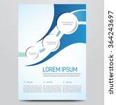 flyer  brochure  poster  annual ... | Shutterstock .eps vector #364243697