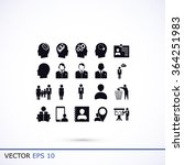 business man icons | Shutterstock .eps vector #364251983