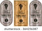 set of wine labels with grapes... | Shutterstock .eps vector #364256387