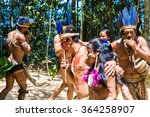 Native Brazilian Dancing At An...