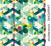 seamless pattern with hand... | Shutterstock .eps vector #364269047