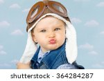 sweet little baby dreaming of... | Shutterstock . vector #364284287