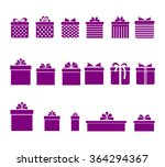 gift boxes color purple with... | Shutterstock .eps vector #364294367