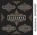 flourish calligraphy frame... | Shutterstock .eps vector #364304087