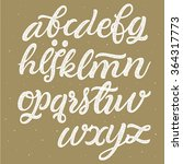 vector hand drawn alphabet.... | Shutterstock .eps vector #364317773