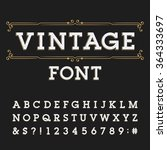 distressed alphabet font.... | Shutterstock .eps vector #364333697