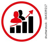 audience growth vector icon.... | Shutterstock .eps vector #364339217