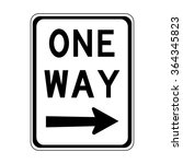 australia one way right sign | Shutterstock .eps vector #364345823
