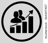 audience growth vector icon.... | Shutterstock .eps vector #364347407