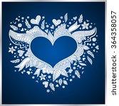 floral heart. heart made of... | Shutterstock .eps vector #364358057